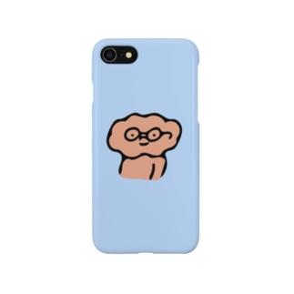 中身ちゃんめがね(あお) Smartphone cases