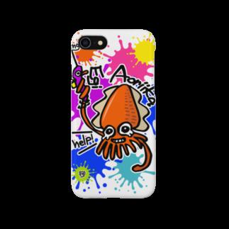 ワカボンドの(釣りざんまい)エギに釣られるアオリイカ ビビットカラーバージョン Smartphone cases