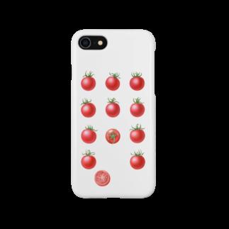 オハデザインのプチトマト Smartphone cases