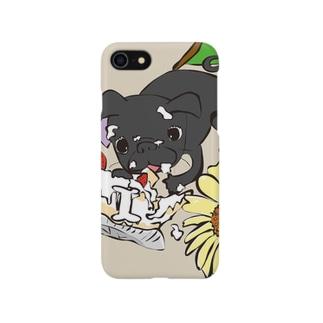 バースディ パグ Smartphone cases