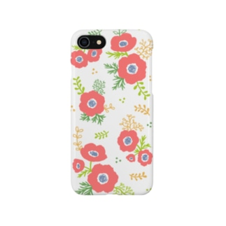 アネモネ(ホワイト) Smartphone cases