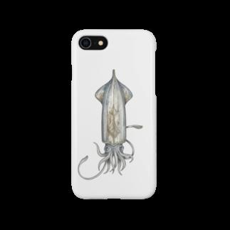 オハデザインのいか Smartphone cases