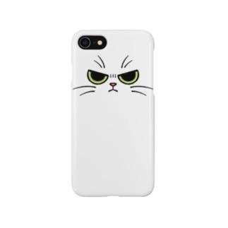 不機嫌なネコ Smartphone cases