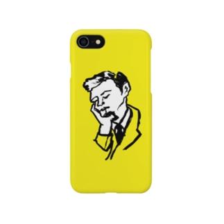 スリーピング紳士(YELLOW) Smartphone cases