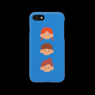 soneske's shopのblue Smartphone cases