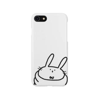 うさぎわしづかみスマホケース Smartphone cases