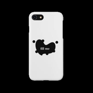 まばたきが浅いの鋳掛部のスマホケース Smartphone cases