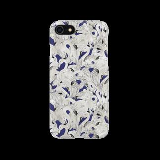 Fukuko55のフラミンゴ ネイビー Smartphone cases