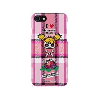 iPhoneケース『チェック柄(ピンク)』 スプラッたん Smartphone cases