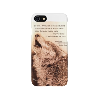 howling wolf Smartphone cases