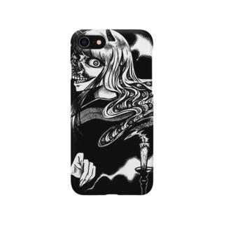 鬼女と蝋燭 Smartphone cases