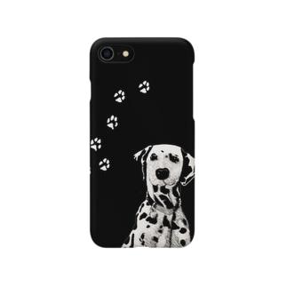 BLACK & WHITE DOG Smartphone cases