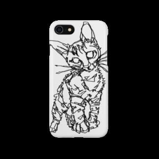 HELLL - ヘル - の左手で描いたネコ Smartphone cases