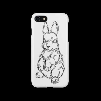 HELLL - ヘル - の左手で描いたウサギA Smartphone cases