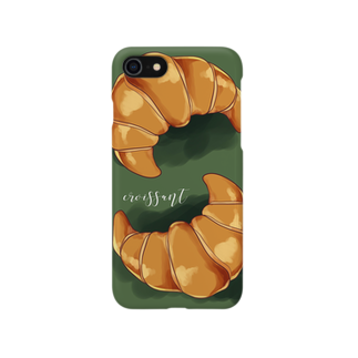 鴉@原稿のcroissant Smartphone cases