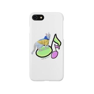 笹かま猫七宝 音符でルンルン Smartphone cases