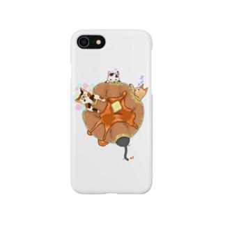 パンケーキ布団ネコ's Smartphone cases