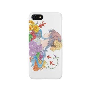 『日本のきもの美人』~夏のおもいで~ Smartphone cases