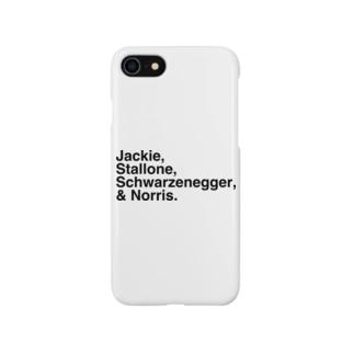 竹下キノの店のハリウッドアクションスター「四天王」ノリスver. Smartphone cases