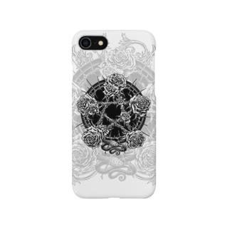 BLACKINK のPENTAGRAM - WHITE Smartphone cases