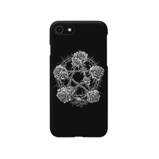 "BLACKINK "" Circle "" seriesのPENTAGRAM - BLACK Smartphone cases"