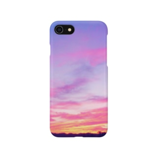 Pink Sunset sky Smartphone cases