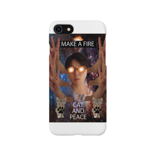 TENSAI_NINGENのCAT AND PEACE Smartphone cases