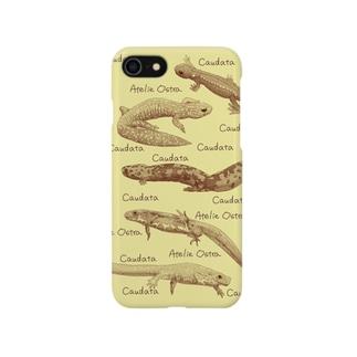 国産有尾類の博物画 Smartphone cases