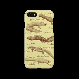 あとりえ・おすとらの国産有尾類の博物画 Smartphone cases