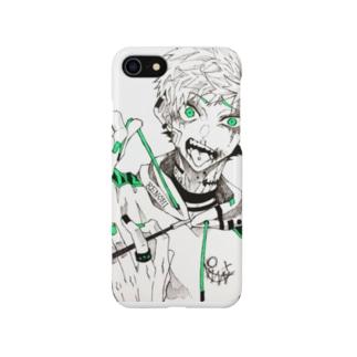 わるいこたちシリーズ。緑。 Smartphone cases