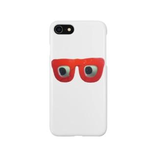 赤メガネ Smartphone cases
