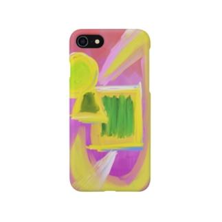 抽象画 丸三角四角 Smartphone cases