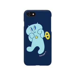 ネジネコ/ちょいワル(ネイビー) Smartphone cases