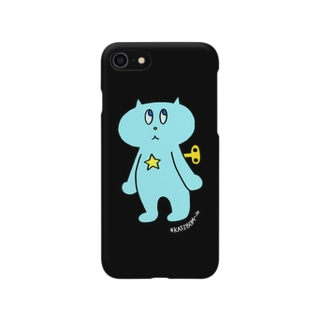 ネジネコ/ブラック Smartphone cases