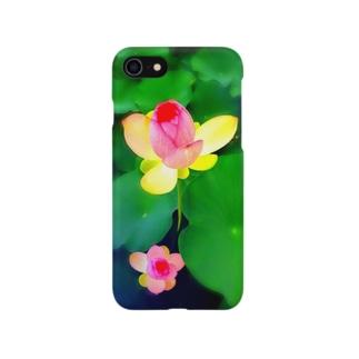 蓮の花☆開花 Smartphone cases