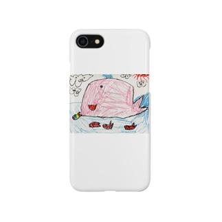 ピンクくじら Smartphone cases