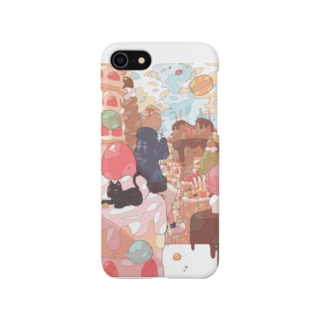 「晴れのちマカロン」 Smartphone cases