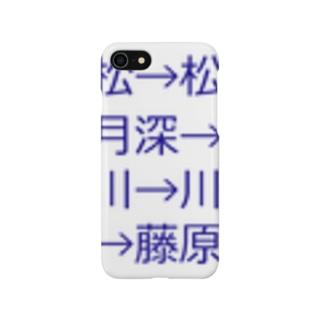 mkoijnの漢字しりとり(苗字編) Smartphone cases