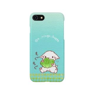 SOLD OUT🎀もぐもぐ芝生ヤギさん 緑 黄緑 黄色 青のグラデーション Smartphone cases