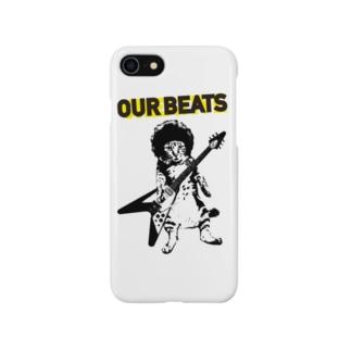 cat rockin' beats Smartphone cases
