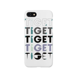 TIGET 6周年記念グッズ ロゴ ver. Smartphone cases