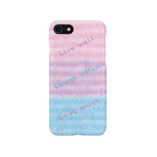健やかに生き・よく笑い・たくさん愛そうケース Smartphone cases