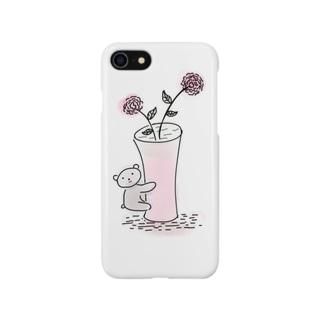 抱きつきクマちゃん💓(^(エ)^)スマートフォンケース Smartphone cases