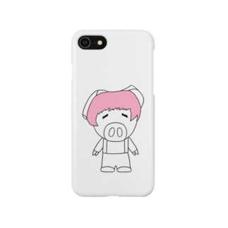 ミニブタの子豚のトン子ちゃん。 Smartphone cases