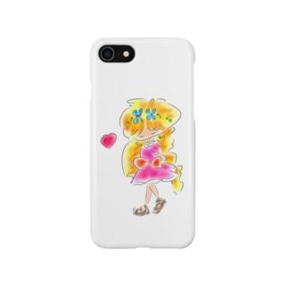金髪の女の子 Smartphone cases