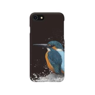 カワセミ_4_黒色 Smartphone cases
