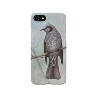 木立のヒヨドリ Smartphone cases