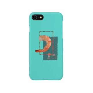茹でてもエビはエビ Smartphone cases