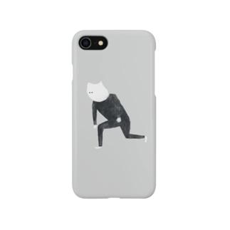 三好愛の頭のいいねこのスマホ Smartphone cases