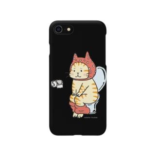 トイレねこ(オレンジ・茶トラ) Smartphone cases